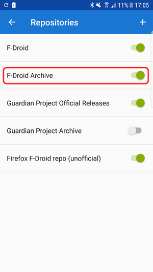 F-Droid Repositories: F-Droid Archive
