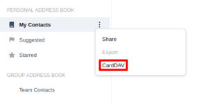 Synology Contacts: how to get CardDAV URL (1)