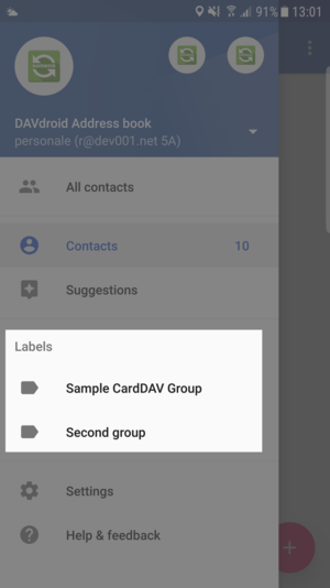 "Google Contacts app: contact groups are ""labels"""