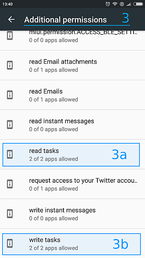 "Open ""read tasks"" and ""write tasks"""
